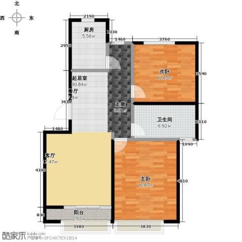 金狮薇尼诗花园2室2厅1卫0厨104.00㎡户型图
