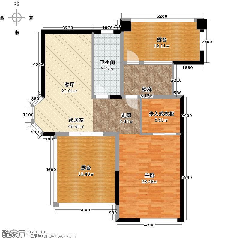 卧龙丽景湾三期212.66㎡2期香山苑3A复式上层户型5室2厅2卫