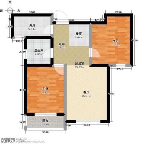 良城国际2室2厅1卫0厨89.00㎡户型图