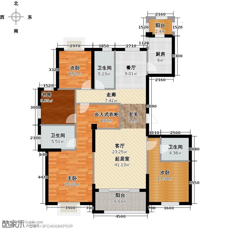 卧龙丽景湾三期165.00㎡4A户型10室