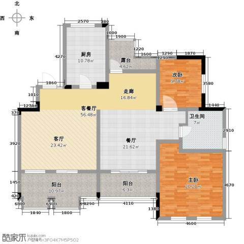 万业・观山泓郡3室2厅2卫0厨140.00㎡户型图