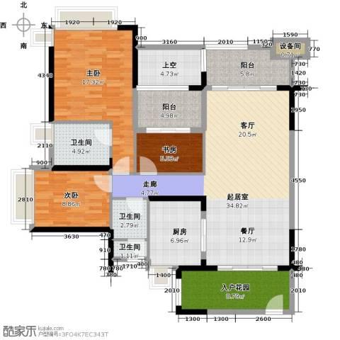雅居乐凯茵又一城3室2厅2卫0厨123.00㎡户型图