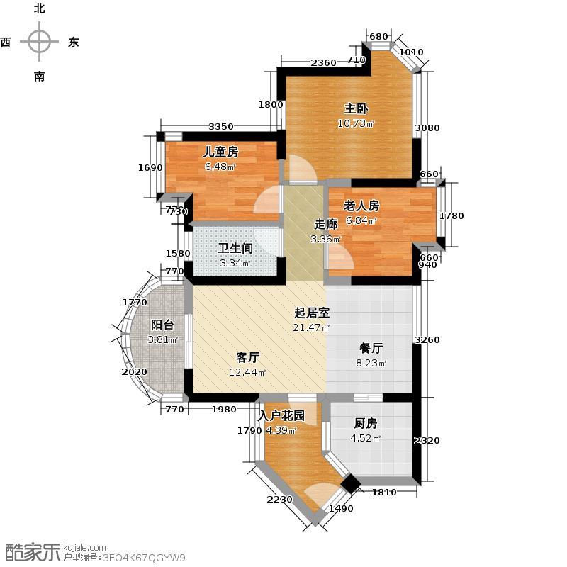 碧桂园十里金滩72.02㎡洋房户型10室