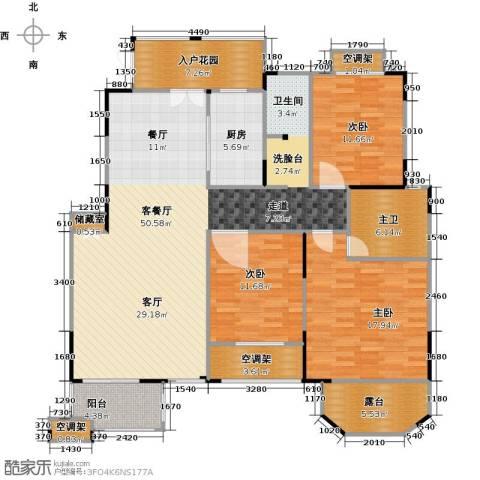 绿地泰晤士新城3室2厅2卫0厨138.00㎡户型图