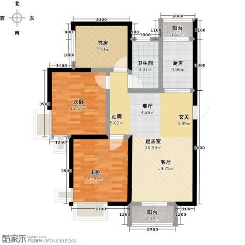 滨海智谛山3室2厅1卫0厨112.00㎡户型图