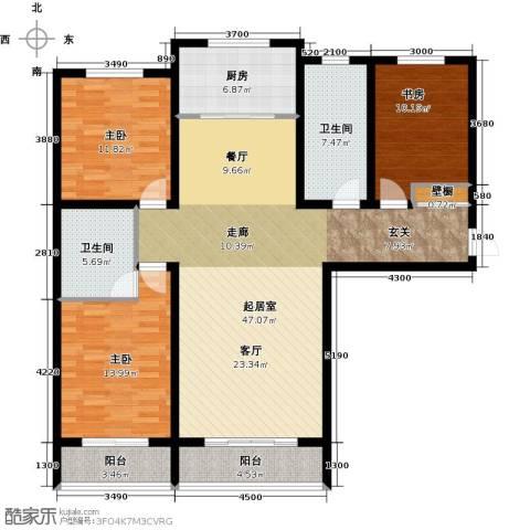 御龙瀚府3室2厅2卫0厨155.00㎡户型图