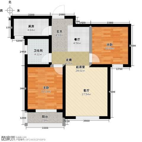 良城国际2室2厅1卫0厨92.00㎡户型图