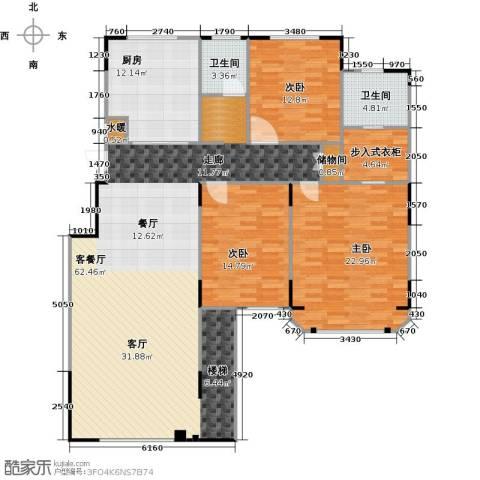 绿地泰晤士新城3室2厅2卫0厨149.00㎡户型图