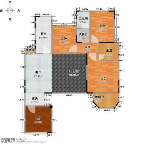 绿地泰晤士新城4室2厅2卫0厨148.00㎡户型图