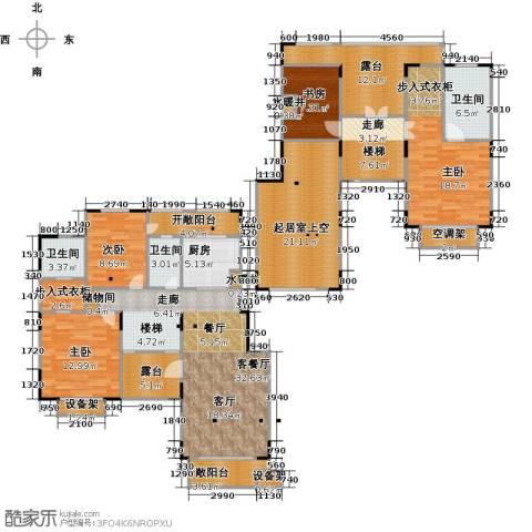 绿地泰晤士新城4室2厅3卫0厨174.00㎡户型图