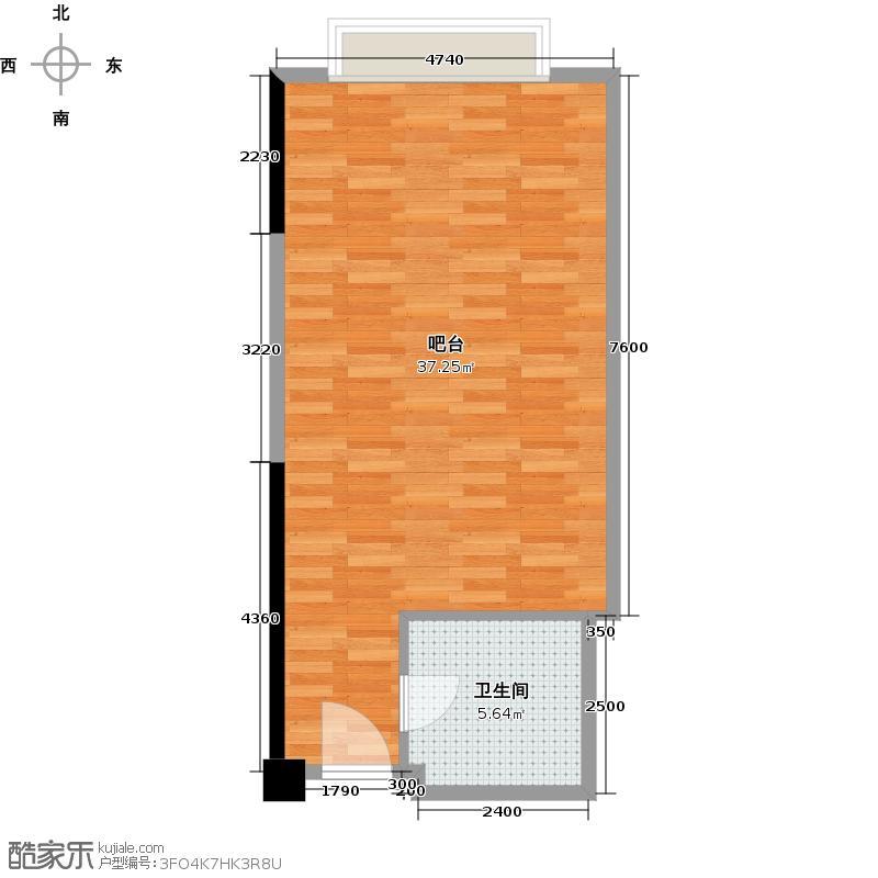 宝山卓越时代广场53.00㎡16办公户型1室1厅1卫