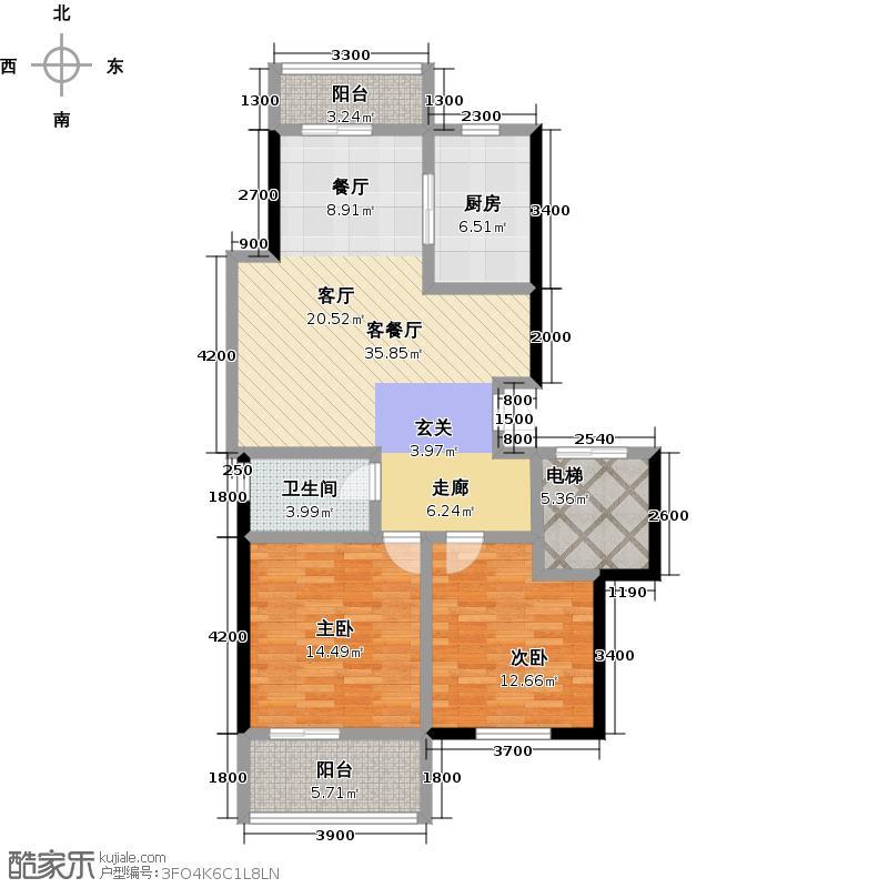 新明半岛101.22㎡房型户型10室