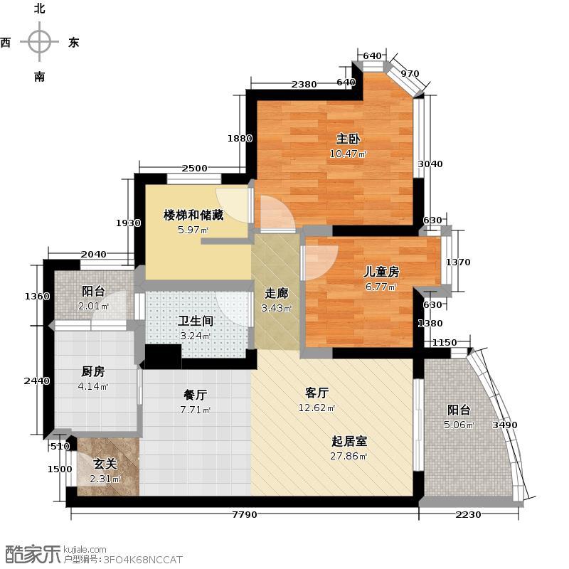 碧桂园十里金滩69.99㎡洋房户型10室