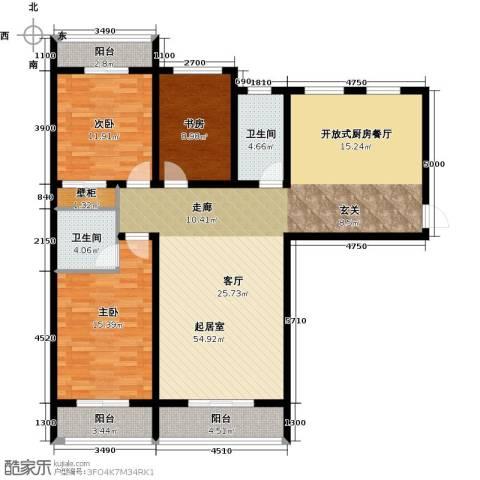 御龙瀚府3室2厅2卫0厨153.00㎡户型图