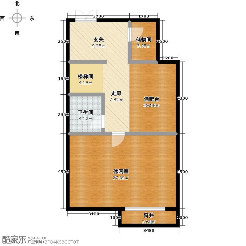 鹭岭75.05㎡9#左四户银角首层-04户型10室
