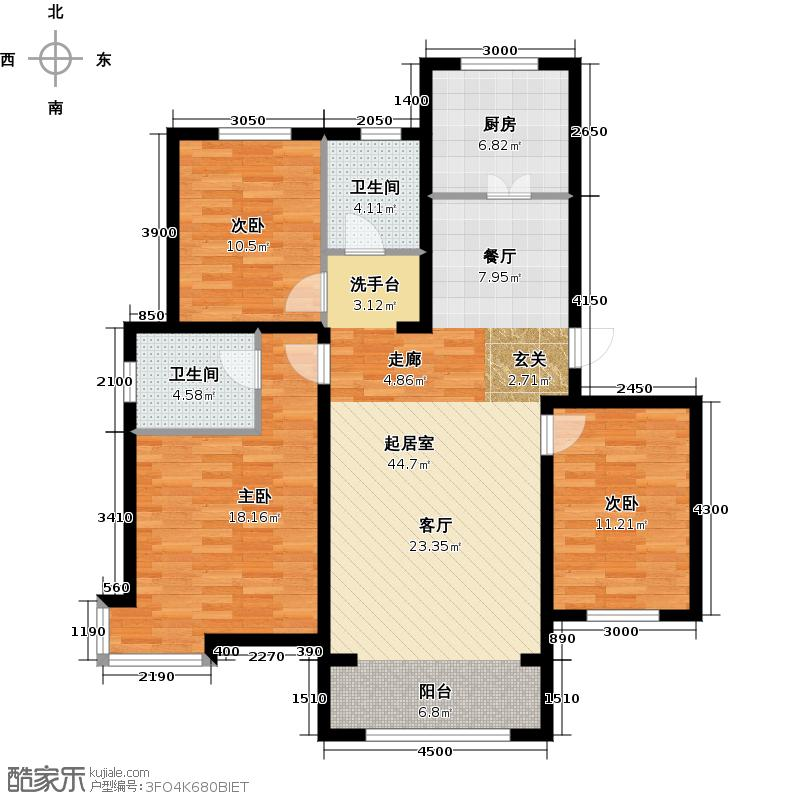 大悦新城134.31㎡户型10室