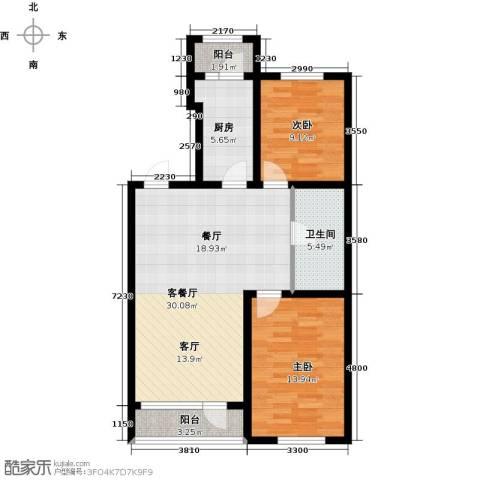 韩建大成府1室2厅1卫0厨91.00㎡户型图