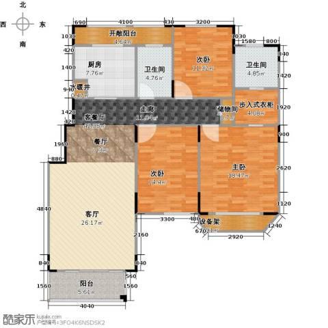 绿地泰晤士新城3室2厅2卫0厨132.00㎡户型图