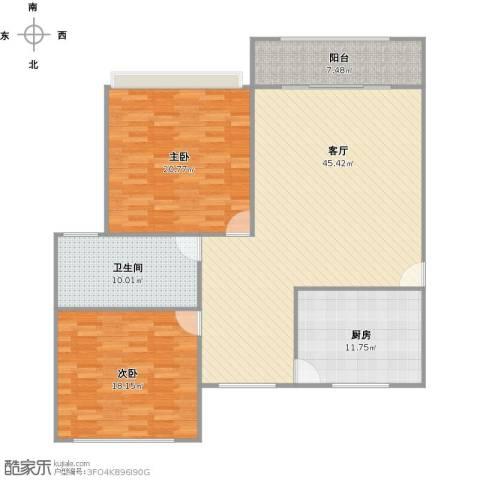 城投世纪名城2室1厅1卫1厨150.00㎡户型图