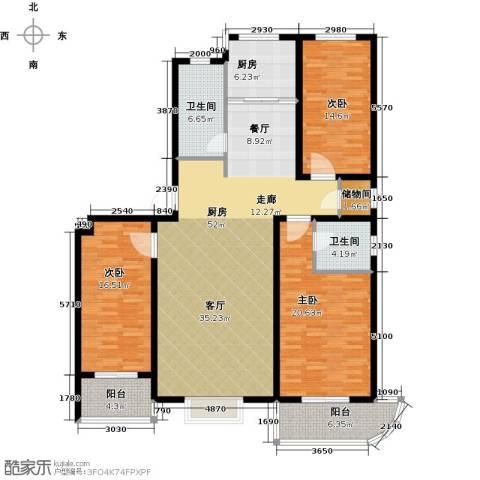 绿都皇城3室2厅2卫0厨165.00㎡户型图