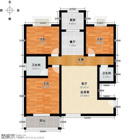 雅逸新城3室0厅2卫1厨130.00㎡户型图