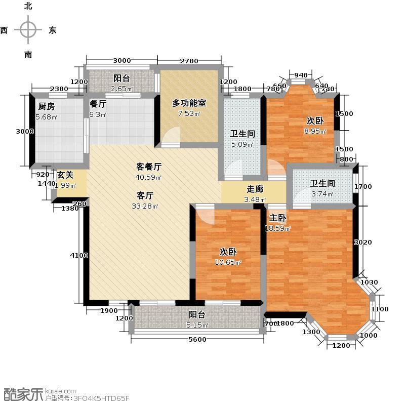 翡翠华庭150.16㎡D1-1户型10室