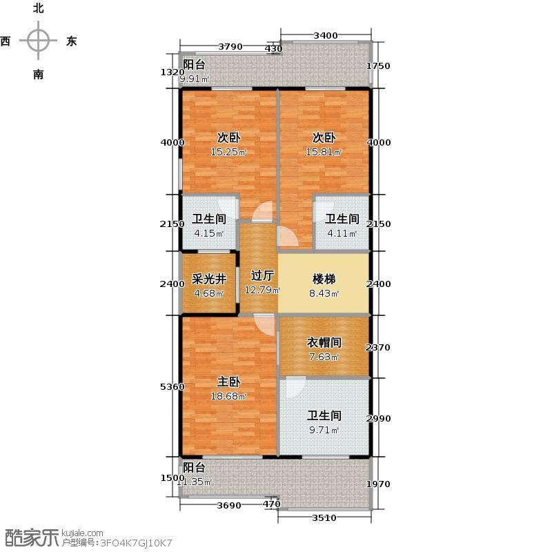 百德畔山云海123.47㎡户型10室