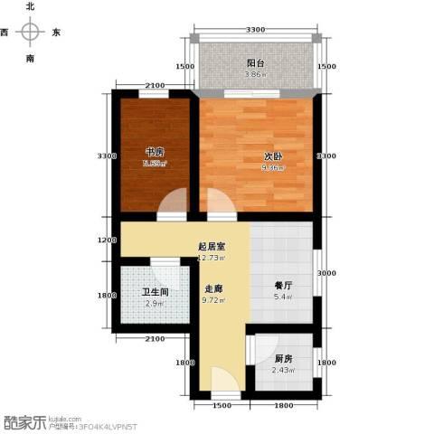 雅逸新城2室0厅1卫1厨56.00㎡户型图