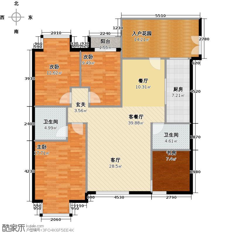 中贸广场139.10㎡C户型10室