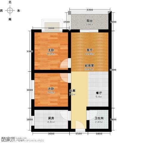 雅逸新城2室0厅1卫1厨69.00㎡户型图