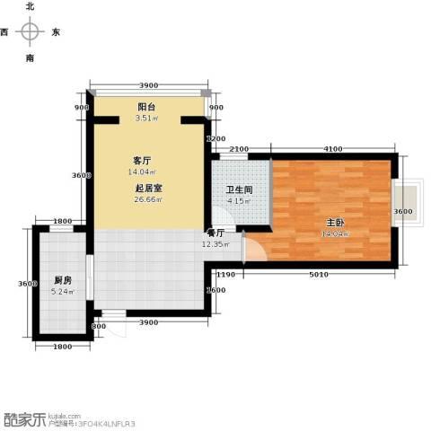林河春天1室0厅1卫1厨71.00㎡户型图