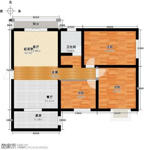 林河春天3室0厅1卫1厨114.00㎡户型图