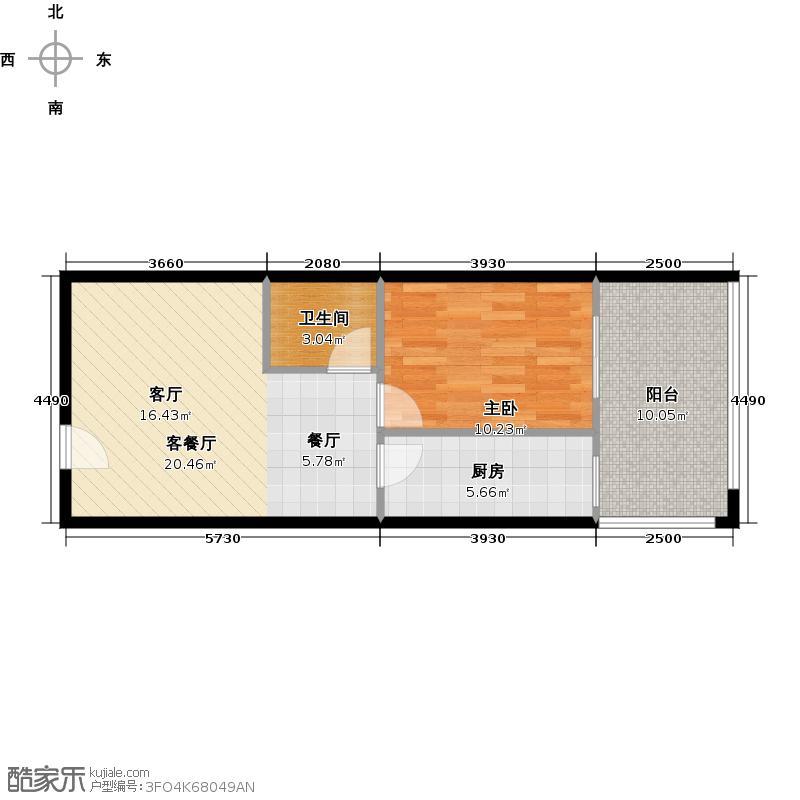 中贸广场60.50㎡A户型10室