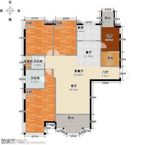 骏景花园4室1厅2卫1厨203.00㎡户型图