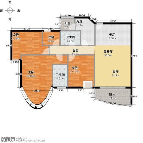 骏景花园4室1厅2卫1厨139.00㎡户型图