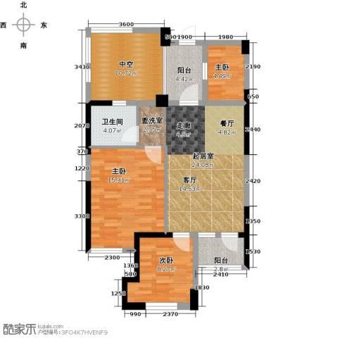 东海金沙T台2室2厅1卫0厨82.00㎡户型图
