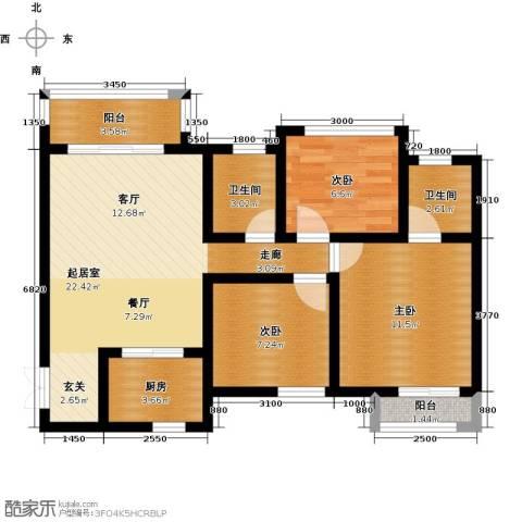 听城3室0厅2卫1厨93.00㎡户型图