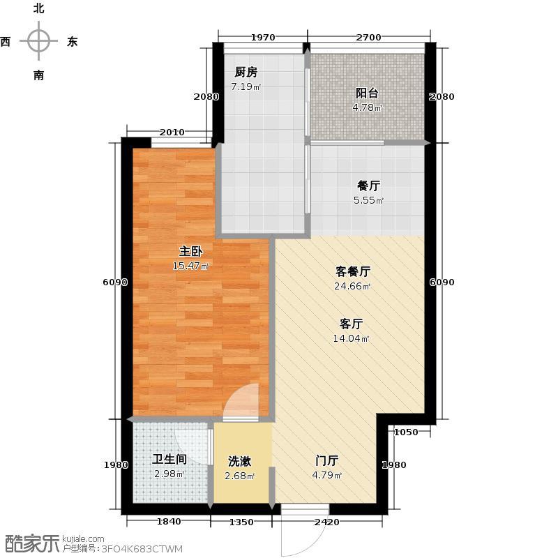 学院山61.47㎡J户型10室