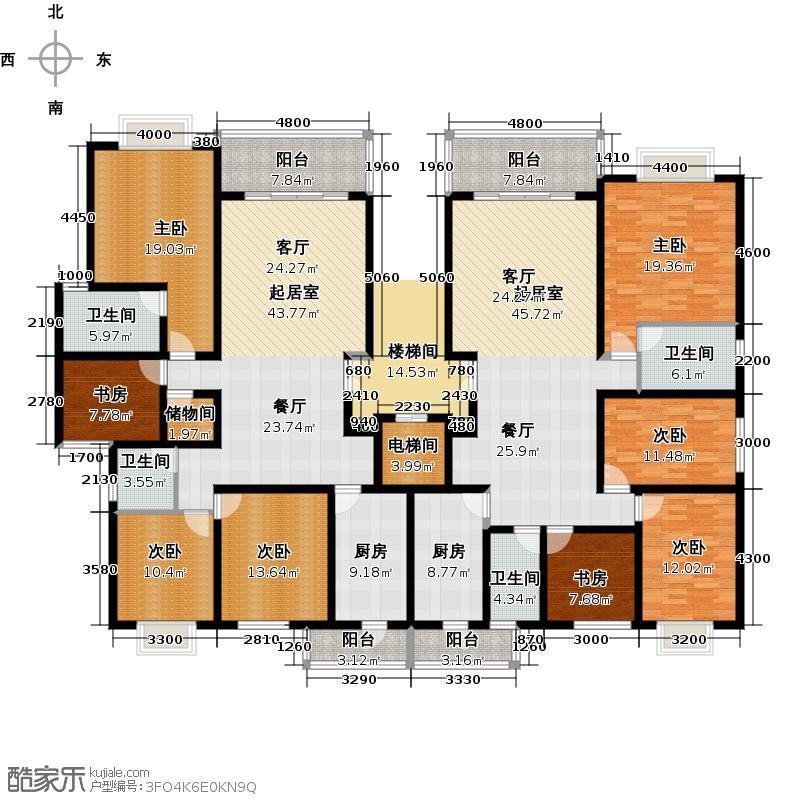 中房翡翠园293.47㎡户型10室