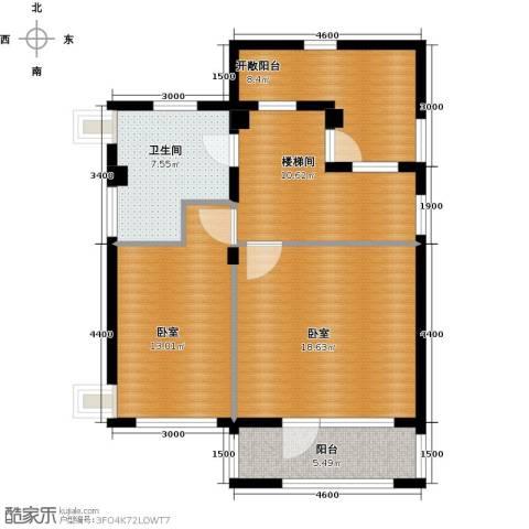 华茂中心2室1厅1卫0厨64.00㎡户型图