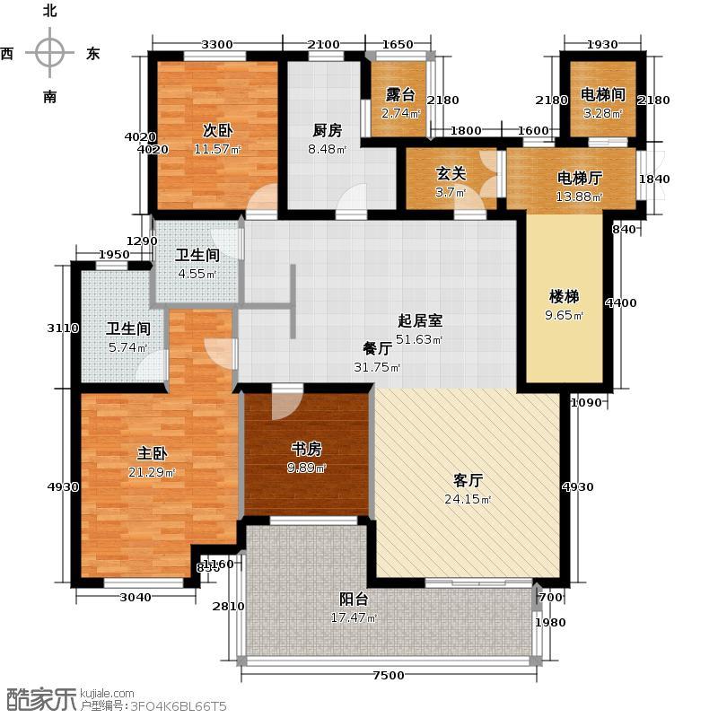 金地东城御院174.27㎡G户型10室