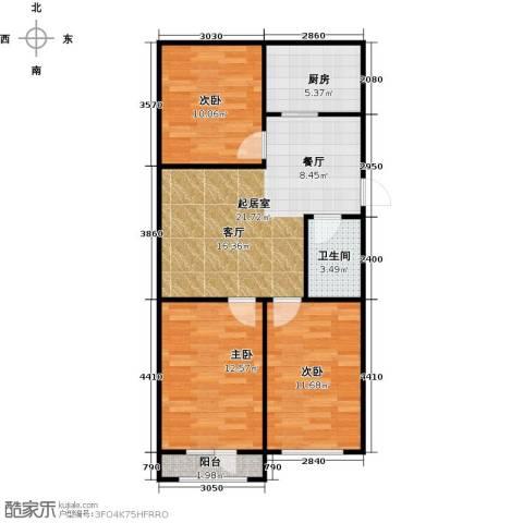 长堤湾3室2厅1卫0厨98.00㎡户型图