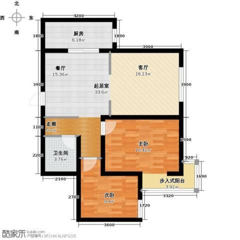 林河春天2室0厅1卫1厨97.00㎡户型图