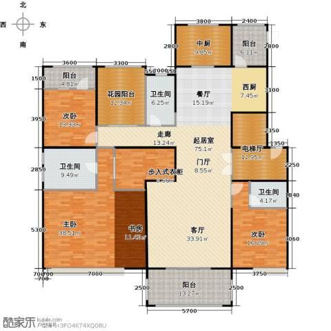 中海紫御公馆3室2厅2卫0厨252.00㎡户型图