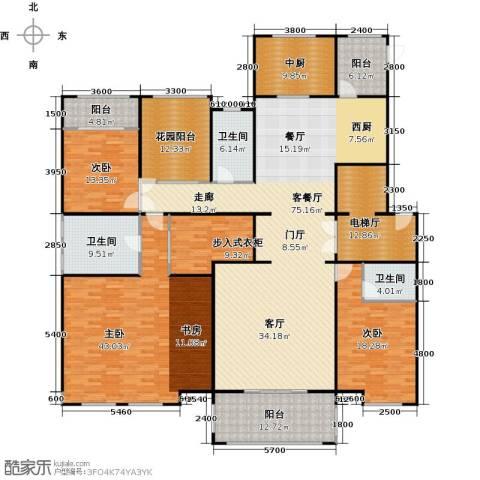 中海紫御公馆3室2厅3卫0厨250.00㎡户型图