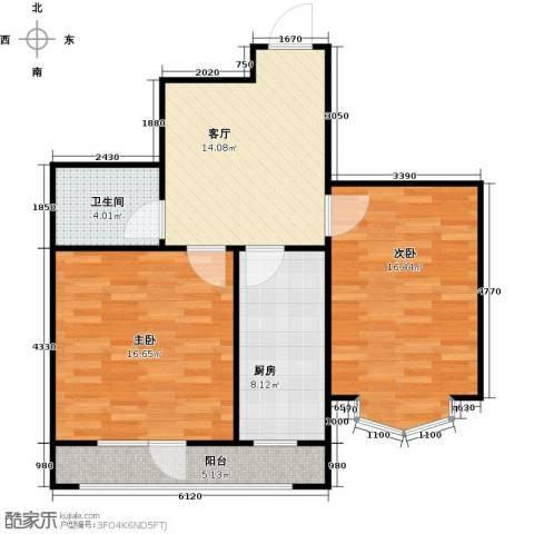长堤湾2室2厅1卫0厨68.00㎡户型图