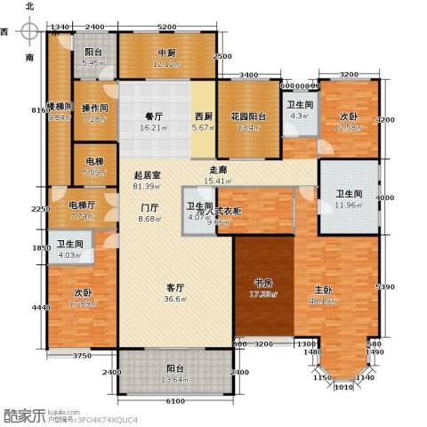 中海紫御公馆3室2厅4卫0厨278.00㎡户型图