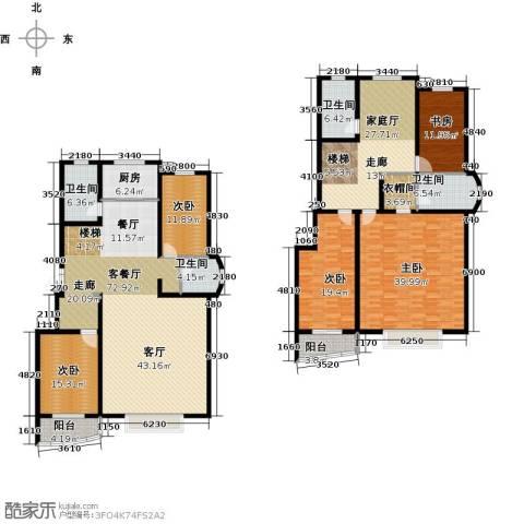 绿都皇城5室3厅3卫0厨279.00㎡户型图