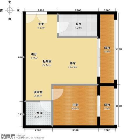 乐府国际公寓1室1厅1卫0厨69.00㎡户型图