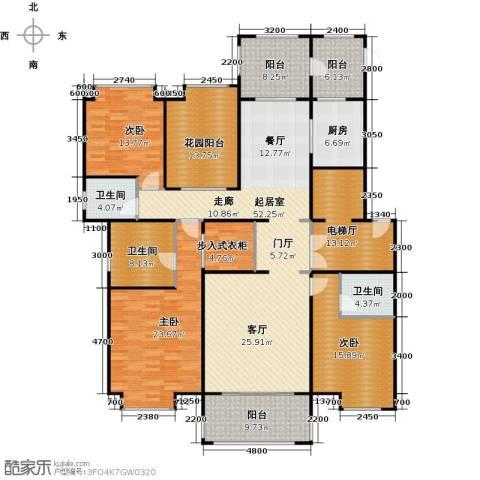 中海紫御公馆3室2厅3卫0厨192.00㎡户型图
